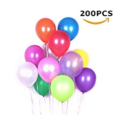 Idea Regalo - Palloncini Colorati (200 Pz), Minleer Palloncini in Lattice Palloncini Colorati Misti Party, Compleanni, Matrimoni, Decorazione (Colore Casuale) 10 inch