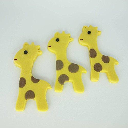 Giraffe Fondant Cupcake Topper-Kuchendekoration Jungle Geburtstag Party Baby Giraffe Mädchen Jungen Baby Dusche Safari Zoo Kuchen Decor (Jungen Für Baby-dusche-kuchen Einen)