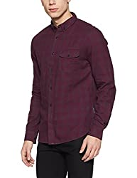 French Connection Mens Slim Fit Casual Shirt (52ISD/7_Dnj-254 A_L)