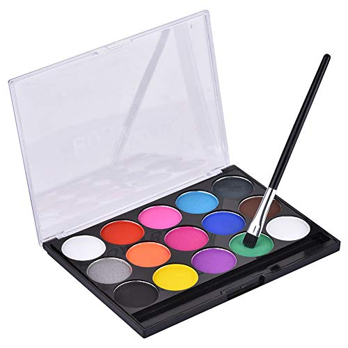 Body Paint Set -15 Schablonen, waschbare Farben-Halloween Art Party Fancy Make Up Set (Kleinkind Halloween Regenbogen Kostüm Hell)