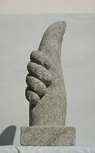Abstrakte Skulptur 30 cm Statuen Skulptur aus Natur Sandstein Gartenfigur