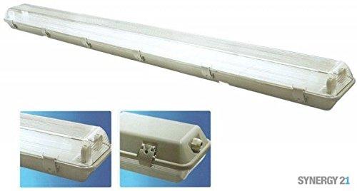 Mount Tube Socket (Synergy 21s21-led-000803Lightbulb Socket–Light Mounts & Zubehör (Lightbulb Socket, White, IP55, LED, T8, 150mm))