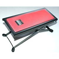 Basix guitarras de soporte Banco de metal con plástico antideslizante–Fregadero rojo–Fácil Altura Regulable por división (Soporte Reposacuchillos)