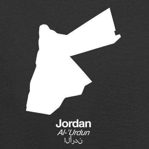 Jordan / Jordanien Silhouette - Herren T-Shirt - 13 Farben Schwarz