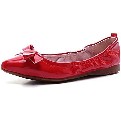 En primavera y otoño en los zapatos de suela plana suave de moda superficial/Cono acentuado casual zapatos mujer/Zapatos de guisantes