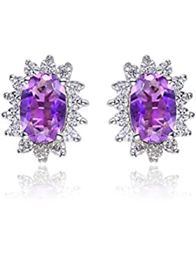 JewelryPalace Prinzessin Diana William Kate Middleton's 1.1ct Natürliche Amethyst Citrin Granat Peridot Topas...