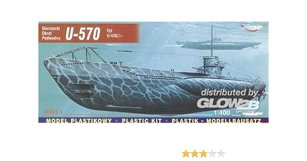 Mirage Hobby 40411-1:400 Deutsches U-Boot U 570 Typ VII C Turm I