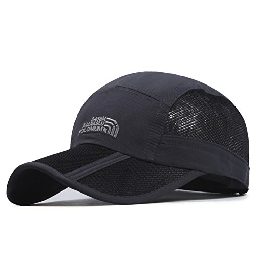 Hut/Herren Sommer Mode Baseballcap/ Outdoor-Schatten Sonnenschutz Sonnenhut/Atmungsaktivem Mesh Cap/ klappbaren Visier-G (Maid Mann Französisch Kostüme)