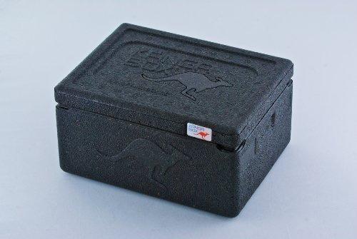 KÄNGABOX Mini EX3075SZ schwarz, Thermobox, Inhalt 1,5 l. Stabil, leicht, klein, stapelbar. Verwendbar als Vesperdose, Vorratsdose, Lunch Box, Kühlbox, Isolierbox oder als Werbeartikel. Als Behälter für Zerbrechliches, Fotozubehör und für Eis und Schokolade. Für Picknick, Camping, Reise, Einkauf, Schule und Arbeit.