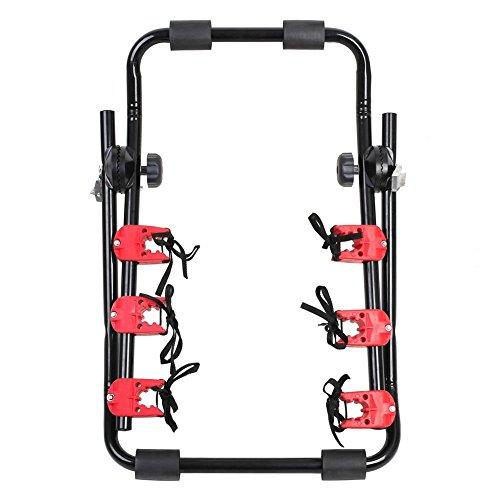 MVpower Soporte de Bicicletas para Maletero de Coche Portabicicletas Trasero Portador de Transporte
