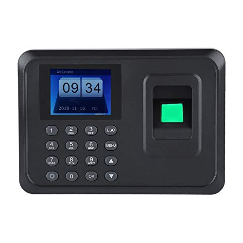 Presenze macchina 2,4 pollici TFT LCD schermo DC 5V orologio biometrico fingerprint password attendance machine check-in registratore(EU)