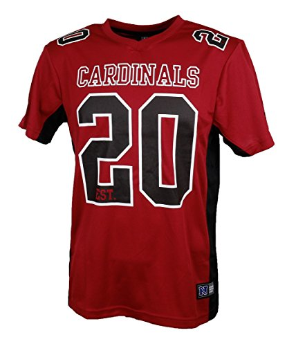 Majestic NFL Mesh Polyester Jersey Shirt - Arizona Cardinals, Größe X-Large, Farbe Rubin