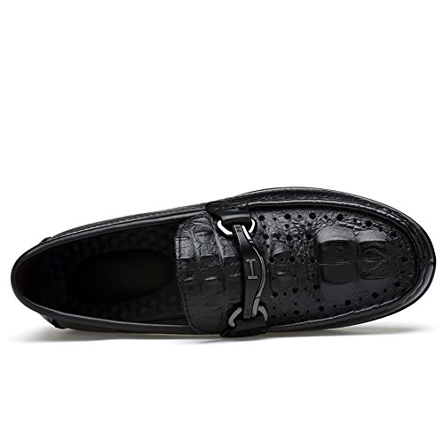 Mens Superior Qualität Casual Loafers Schuhe Herren Slip auf Mokassins Schwarzer Punsch