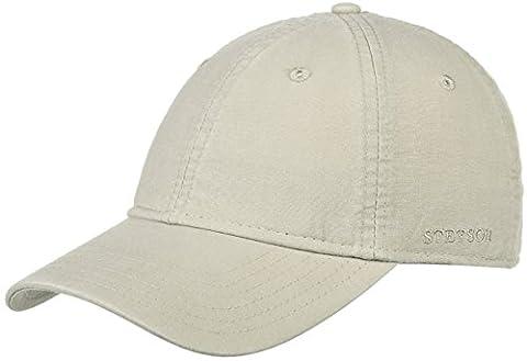 Basecap hellbeige Baumwolle UV-Schutz Kappe Schildmütze 7711102-71 (S=54-55) (Schildmützen Herren)