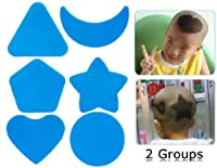2-Piece Child Hair Styling Model Template (Blue)