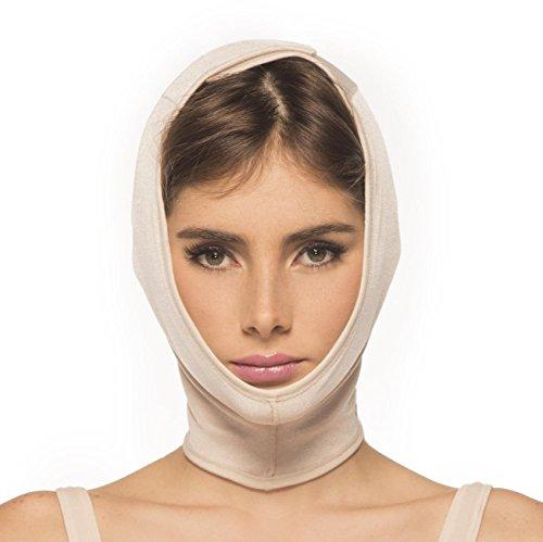 Kompressionswäsche - Kompressions Gesichts-Bandage �?Größen S-M & L-XL �?postoperativ �?Renolife by Annette �?Modell 17396 �?Beige �?Mittlere Kompression Beige