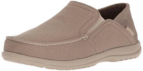 crocs Herren Slip-on Santa Cruz Convertible Loafer, zum Reinschlüpfen, flach, Khaki/Cobblestone, 41 EU (Crocs-herren-santa Cruz Slip On)