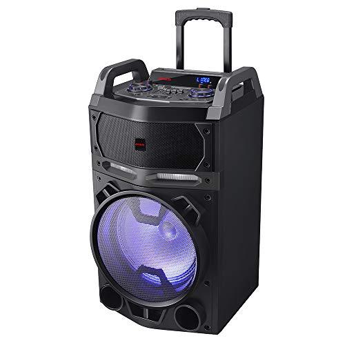 Aiwa KBTUS-700, Altavoz Trolley, Bluetooth, 2X Micrófono Inalámbrico, Mando