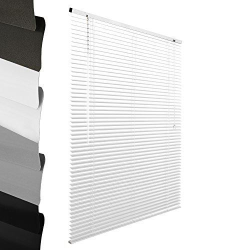 Sol Royal? Tenda veneziana SolDecor J32 - bianco - 60x130 cm (LxA) - lamelle in alluminio - fissaggio a viti o con ganci