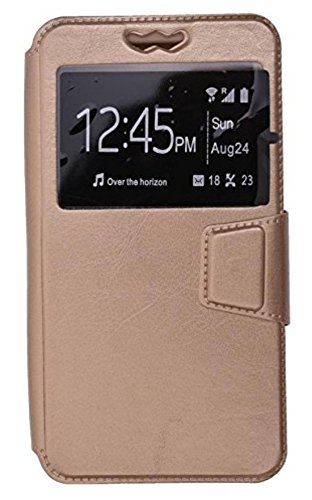 BKDT Marketing Leather finish Flip Cover Case Wallet Style for MICROMAX Canvas Nitro2 E352