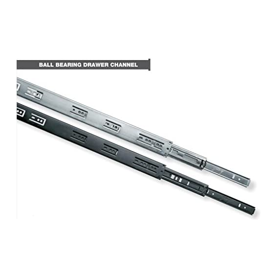 Godrej Ball Bearing Drawer Channel (Runner) - 400mm (16) - Telescopic (Regular) - Loading Capacity 45Kg - Zinc - 1 Pair