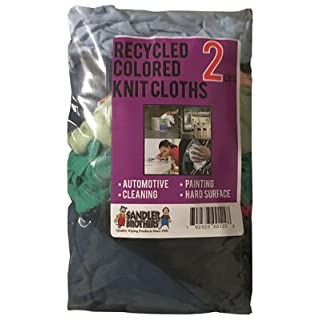 SANDLER BROTHERS INC - 2# Block-Pack Recycled Colored Knit Cloths