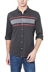 Allen Solly Mens Checkered Regular Fit Cotton Casual Shirt (ATSF517S02523_Black_39)