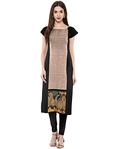 Ahorn-Fashions Kurti Kunstkrepp, bunt Gr. X-Large, Multi (Leggings Indischen)