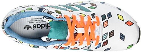 adidas Originals Zx Flux Herren Low-Top Schwarz (Ftwr White/Ftwr White/Solar Orange)