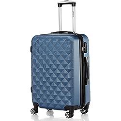 Zwilling Juego de maletines con ruedas 2066, rígidas, de viaje, en 12 colores, Azul, medium