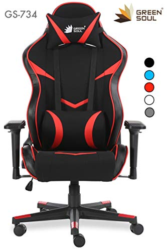 Green Soul Monster Series Gaming/Ergonomic Healthy Chair in Fabric and...