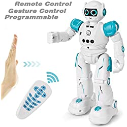 GotechoD Robot Jouet télécommandé pour Enfant, Intelligent Robot programmable Qui Dance, Enfant Jouet garçon Fille 3-10 Ans Cadeau Anniversaire Noël Nouvel an