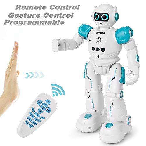 GotechoD Robot de Control Remoto de programación Robot RC Juguetes para niños de 8 años de Edad Regalo, Robot Inteligente Caminar Canto Robot Remoto para niños niñas