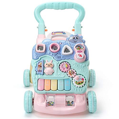 Lauflernhilfe Abnehmbare Spielkonsole Baby Walker Activity Center Mit Musiklicht Mini Mobile Sketchpad Stehhilfe Walker Push Carts Kleinkindspielzeug Auto Schicken Sie der Familie Ihres Babys ein nett