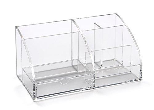 Osco - Portaoggetti da scrivania in acrilico, colore: Trasparente