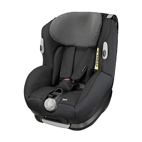Bébé Confort Opal Silla de coche bebé, a contramarcha o sentido de la marcha, ajustable y reclinable, instalación con cinturón de seguridad, 0 meses - 4 años, 0-18kg, negro (Black Raven)