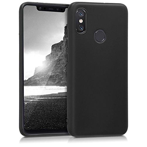 kwmobile Funda para Xiaomi Mi 8 - Carcasa para móvil en [TPU Silicona] - Protector [Trasero] en [Negro Mate]