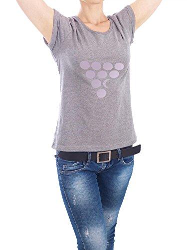 "Design T-Shirt Frauen Earth Positive ""Dot Moon"" - stylisches Shirt Geometrie von Mia Nissen Grau"