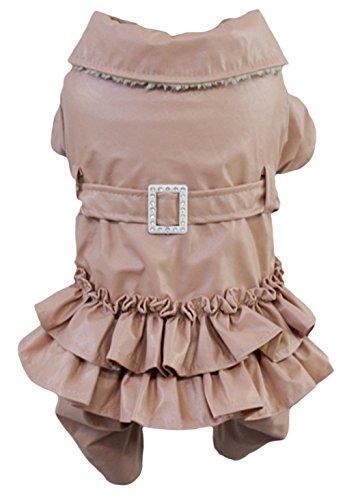 EOZY-Abbigliamento Vestito per Cane Cucciolo Cappotto Pelle