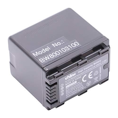 vhbw Akku 3200mAh für Camcorder Kamera Panasonic HC-V10, HC-V100, HC-V100M, HC-V500, HC-V500M, HC-V700, HC-V700M wie VW-VBK360, VW-VBK360-K. V700 Camcorder