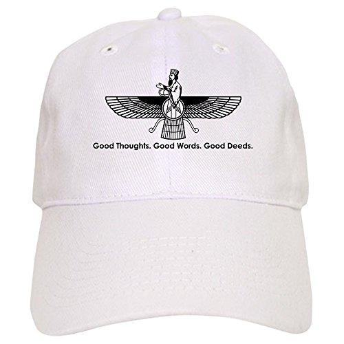 CafePress Farvahar Design II: Good Thoughts, words, Deeds CA - Baseball Cap With Adjustable Closure, Unique Printed Baseball Hat