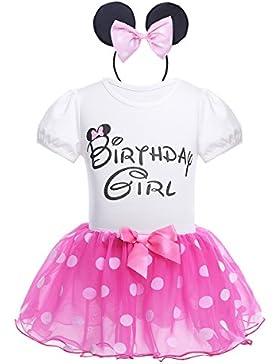 Tiaobug Baby Kleidung Set - (Strampler, Rock Haarreif) Baby Mädchen Kleider Baumwolle Prinzessin Kostüm Neugeborene...