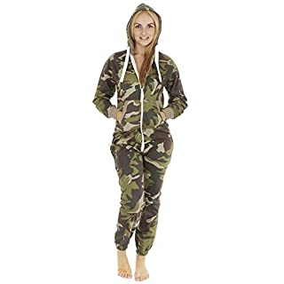 Love My Fashions Womens Unisex Outfit Aztec Print Camo Camouflage Hooded Zipped All in One Activewear Onesie Jumpsuit for Adult Men Ladies Teens Lougewear Pyjamas Plus Size