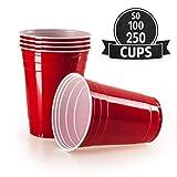 Gobelet Rouge Americain (x100) - Gobelet Plastique Fete, Beer Pong, 473 ml