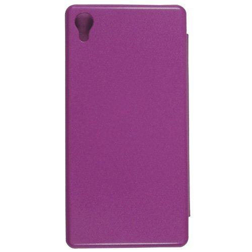 Casotec Premium Flip Case Cover for Sony Xperia M4 Aqua – Purple