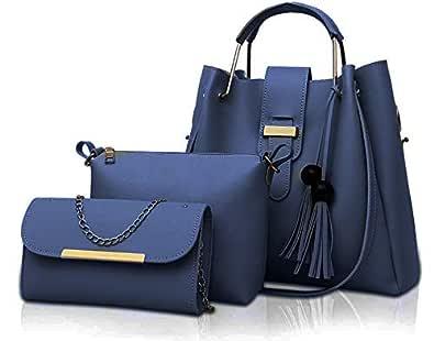 Fargo Women's Handbag & Sling Bags (Set of 3, Navy Blue)