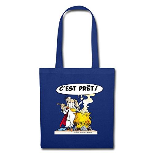 Spreadshirt Asterix & Obelix - Miraculix Stoffbeutel Royalblau