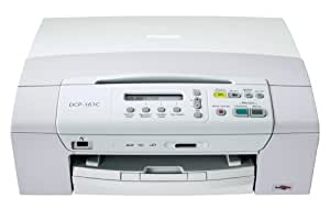Brother DCP-163C Imprimante Multifonctions Jet d'encre Couleur Compacte Lecteur de Cartes Média USB 2.0 Mémoire 32 Mo
