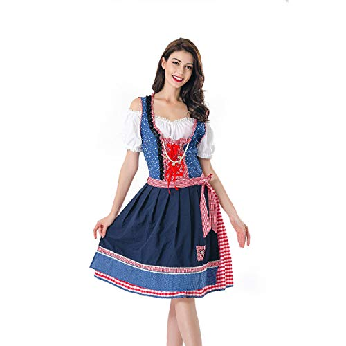 Story of life Oktoberfest Damenkostüm, Bayerisch Deutsch Damenkostüm Beer Girl Maid Dress Halloween Party Karneval Fastnacht Kleidung Für - Womens Tote Schönheit Kostüm