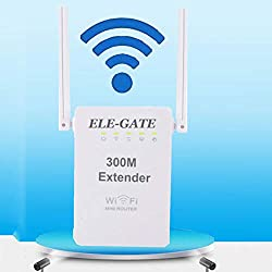 XGLL WLAN Router, WLAN Repeater300 Mbps 2,4 Ghz Dual Antenne WiFi Signal Verstaerker WiFi Range Extender